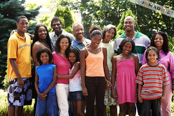 large-african-family