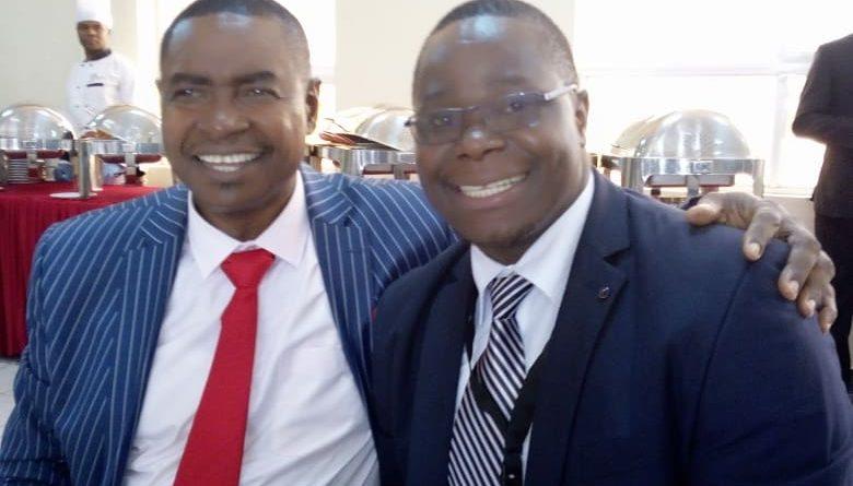 Jared Oluoch Oundo with MP Embakasi South Musili Mawathe