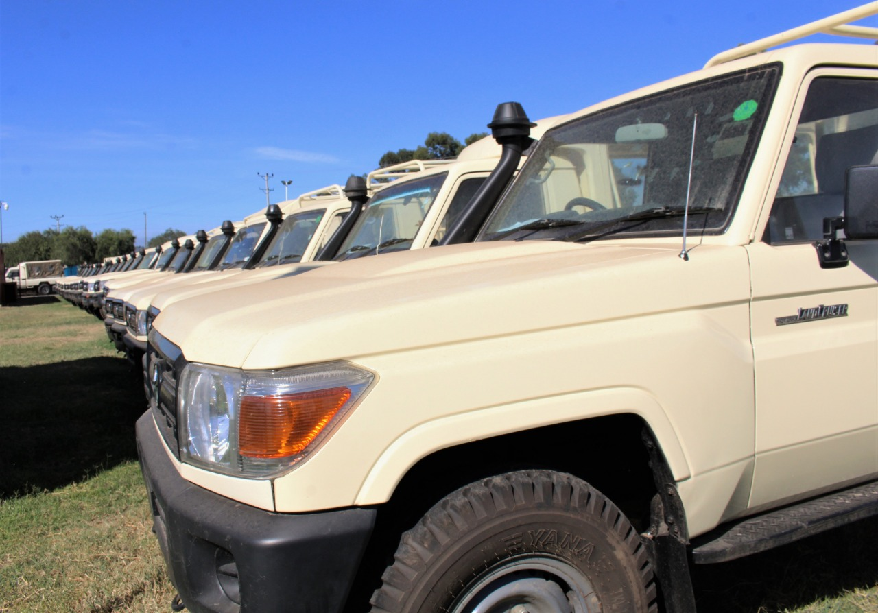 Some of the Ex-lease Vehicles at VAELL Offices in Naivasha Kenya